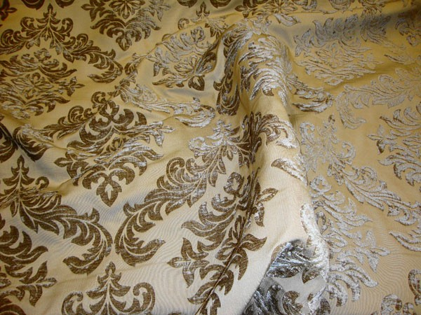 Archive Color Damask Reversible Chenille Upholstery Drapery Fabric