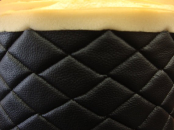 Black Quilted Vinyl Fabric With 3 8 Quot Foam Backing Upholstery