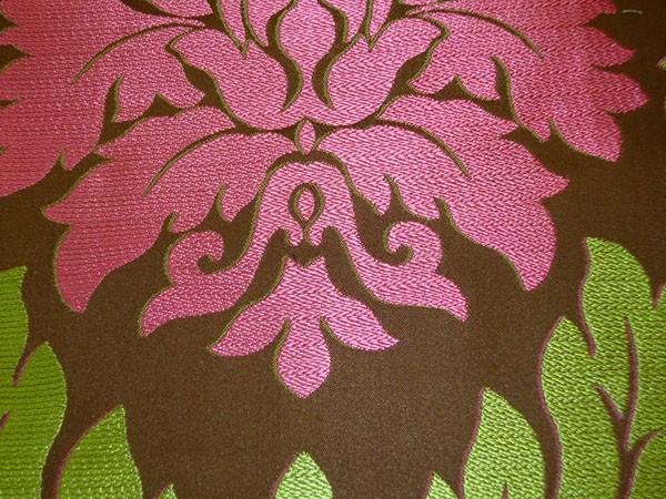 Dusty Rose Jacquard Damask Upholstery Fabric