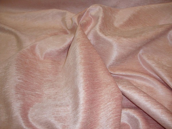 Pink Chenille With Sheen And Slub Upholstery And Drapery Fabric Per Yard