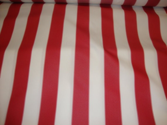 Red White Striped Waterproof Outdoor Canvas Fabric 60 600 Denier