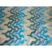 Peacock Wave Embossed Raised Velvet upholstery Drapery Fabric per yard