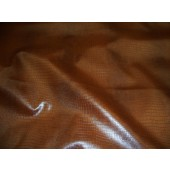 Alligator Chestnut color upholstery Leather Vinyl fabric per yard
