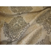 Beige and Gray Damask Jacquard