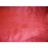 Berry Crocodile Upholstery Chenille Fabric per yard