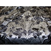 Black Damask Burnout Velvet