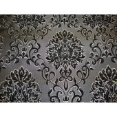 Black Reversible Chenille Damask