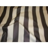 "Black Ivory Striped Waterproof Outdoor Canvas fabric 60"" 600 Denier wide per yard"