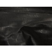 Black metallic Lightning upholstery Faux vinyl fabric per yard