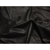 Black on black Distressed look Faux Vinyl upholstery fabric per yard