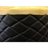 "Black Quilted Vinyl fabric with 3/8"" Foam Backing Upholstery"