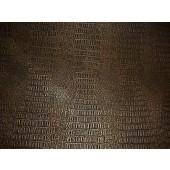 Brass metallic Gator upholstery Faux vinyl fabric per yard
