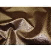 Bronze Metallic Ostrich Upholstery Vinyl fabric per yard