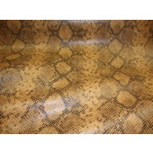Caramel Python Metallic Embossed pattern upholstery vinyl fabric per yard