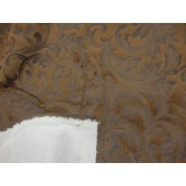 Chocolate Embossed Velvet upholstery fabric