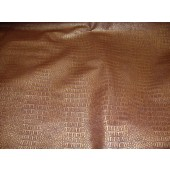 Copper metallic Gator upholstery Faux vinyl fabric per yard