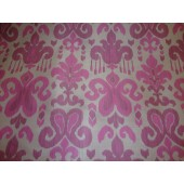 "Fig Damask with grey back upholstery Drapery fabric per yard 60"" wide"