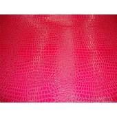 Fuchsia Crocodile upholstery vinyl fabric per yard