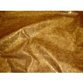 Gold Metallic Embossed big Crocodile pattern upholstery vinyl fabric per yard