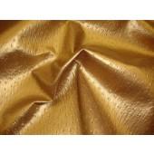 Gold Metallic Ostrich Upholstery Vinyl fabric per yard