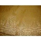 Gold Parisian Embossed Damask Vinyl upholstery Drapery fabric per yard