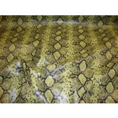 Green Python Metallic Embossed pattern upholstery vinyl fabric per yard
