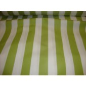 "Lime white Striped Waterproof Outdoor Canvas fabric 60"" 600 Denier wide per yard"