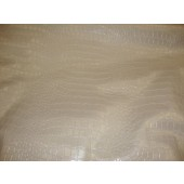 Pearl Metallic Embossed big Crocodile pattern upholstery vinyl fabric per yard