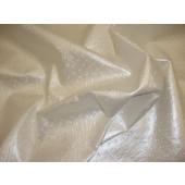Pearl Metallic Ostrich Upholstery Vinyl fabric per yard