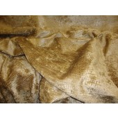Peat Crocodile Upholstery chenille Fabric per yard