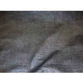 Pewter Metallic Gator upholstery Faux vinyl fabric per yard