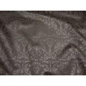 Pewter Parisian Embossed Damask Vinyl upholstery Drapery fabric per yard