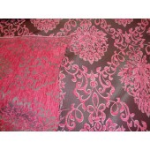 Pink Damask Chenille Upholstery Drapery Reversible Fabric
