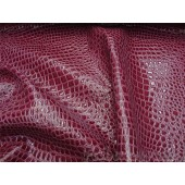 Raspberry Crocodile upholstery vinyl fabric per yard