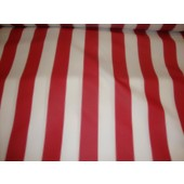"Red White Striped Waterproof Outdoor Canvas fabric 60"" 600 Denier wide per yard"