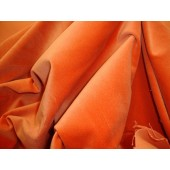 Salmon 100% Cotton Velvet