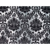 Silver damask Chenille upholstery drapery fabric