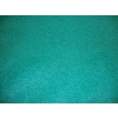 Turquoise Laredo Embossed Floral Faux Leather vinyl upholstery fabric per yard