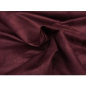 Wine Micro Suede Upholstery fabric per yard
