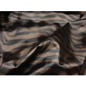 Zebra Vinyl Black and Brown upholstery fabric per yard