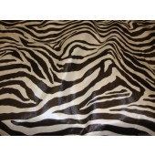 Zebra Vinyl Black and White upholstery fabric per yard