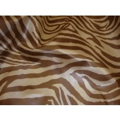 Zebra Vinyl Tan and Brown upholstery fabric per yard