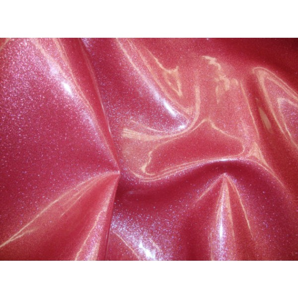 Fuschia Glitter Vinyl Upholstery Fabric Per Yard
