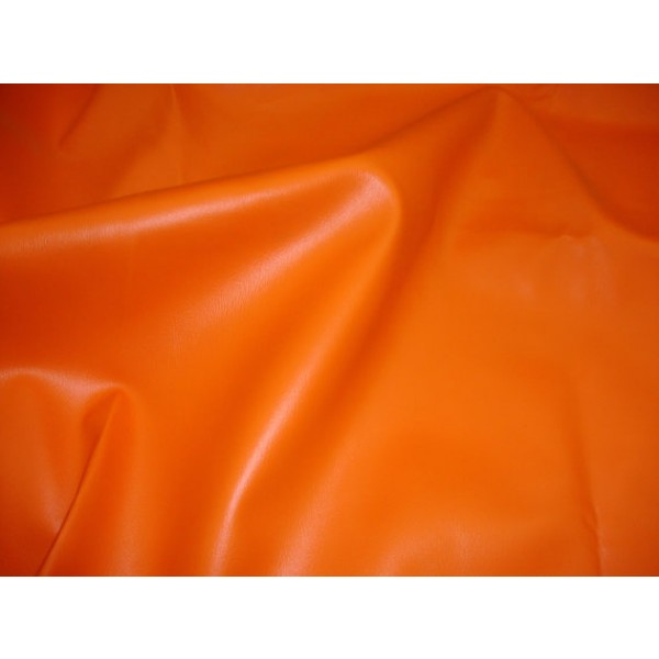 Orange 2 Way Stretch Upholstery Faux Leather Vinyl Fabric Per Yard