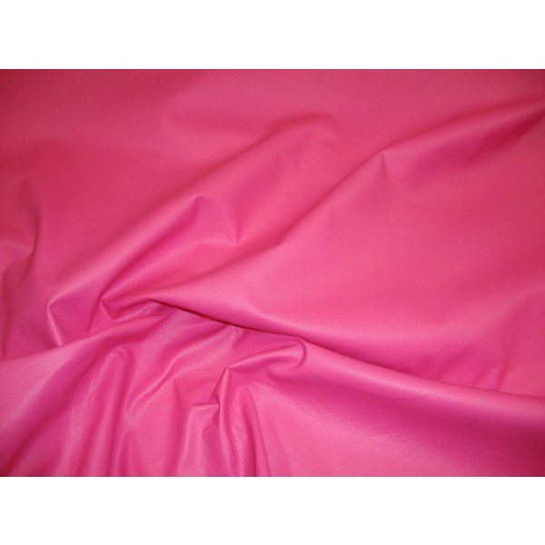 Pink Champion Faux Vinyl Upholstery Leather Fabric Per Yard