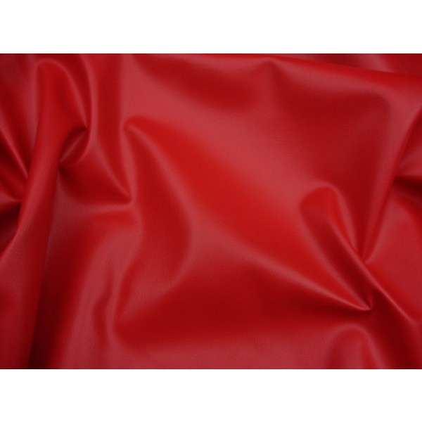 Red 2 Way Stretch Upholstery Faux Leather Vinyl Fabric Per