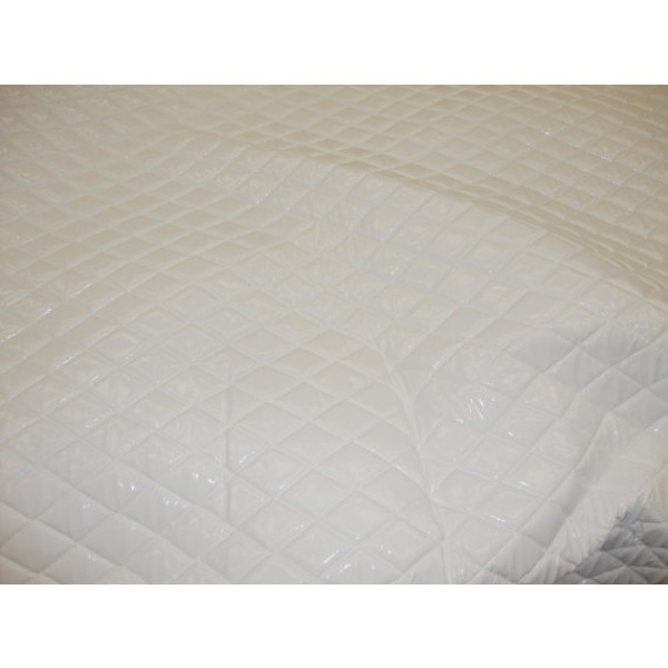 White Patent Quilted Vinyl Fabric With 3 8 Foam Backing Upholstery